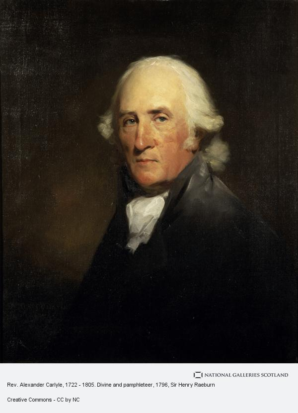 Sir Henry Raeburn, Rev. Alexander Carlyle, 1722 - 1805. Divine and pamphleteer (1796)