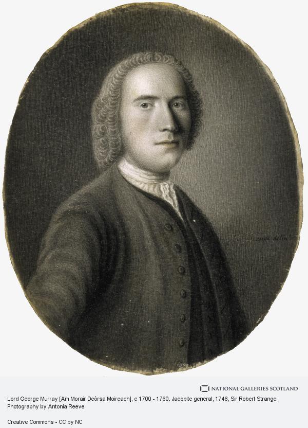 Sir Robert Strange, Lord George Murray [Am Morair Deòrsa Moireach], c 1700 - 1760. Jacobite general (About 1746)