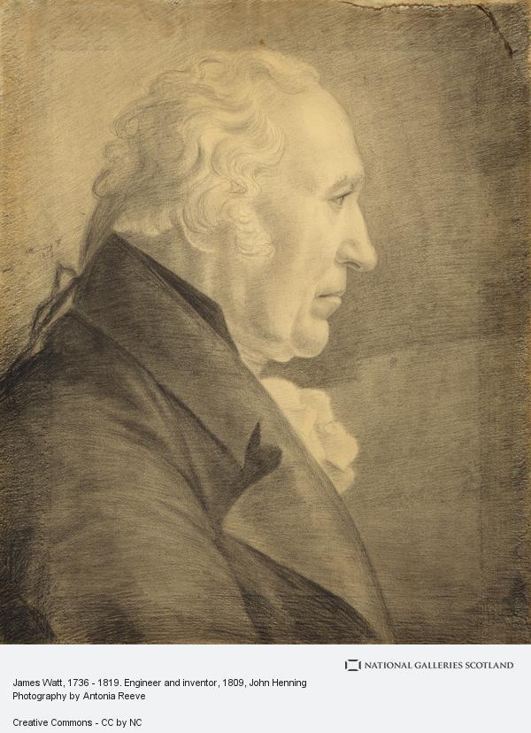 John Henning, James Watt, 1736 - 1819. Engineer, inventor of the steam engine (1809)