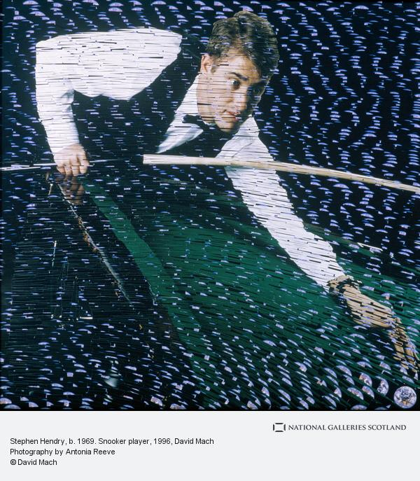 David Mach, Stephen Hendry, b. 1969. Snooker player