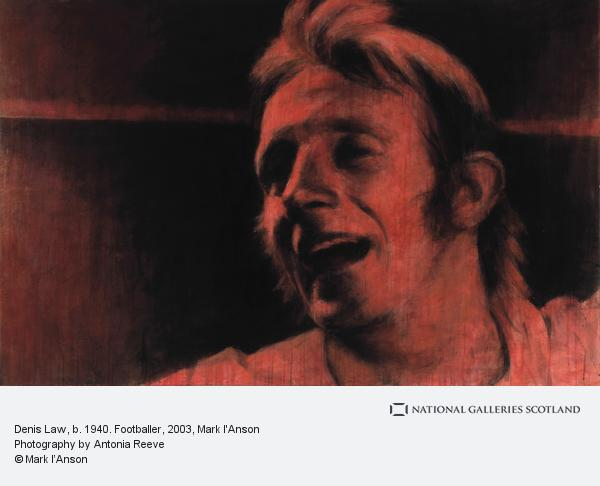 Mark I'Anson, Denis Law, b. 1940. Footballer