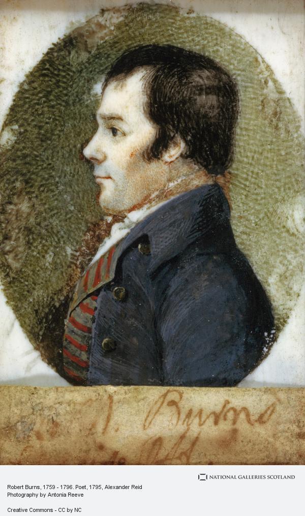 Alexander Reid, Robert Burns, 1759 - 1796. Poet (1795 - 1796)