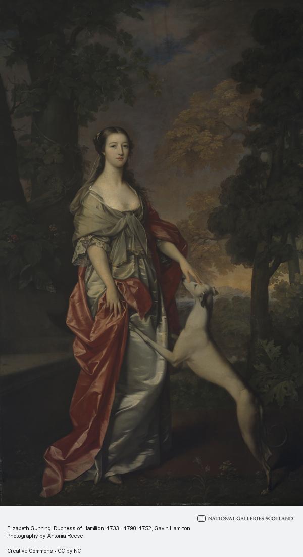 Gavin Hamilton, Elizabeth Gunning, Duchess of Hamilton, 1733 - 1790