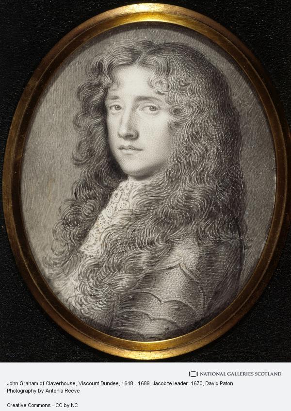 David Paton, John Graham of Claverhouse, Viscount Dundee, 1648 - 1689. Jacobite leader (About 1670)
