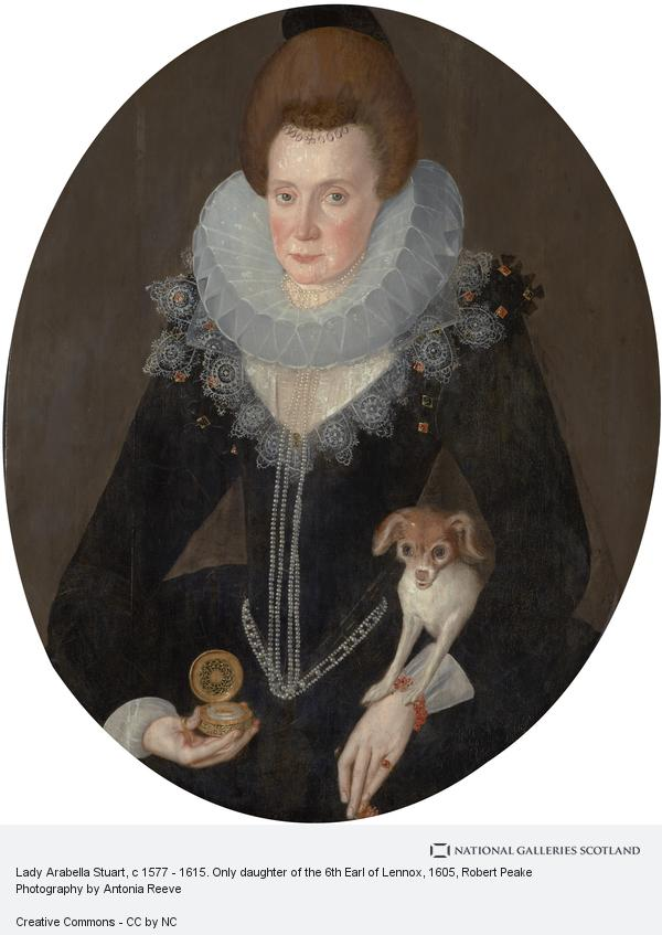 Sir Robert Peake, Lady Arabella Stuart, c 1577 - 1615. Only daughter of the 6th Earl of Lennox