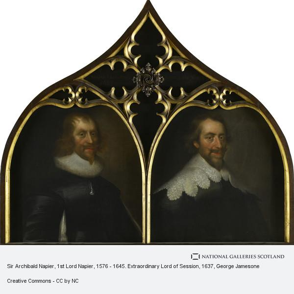 George Jamesone, Sir Archibald Napier, 1st Lord Napier, 1576 - 1645. Extraordinary Lord of Session