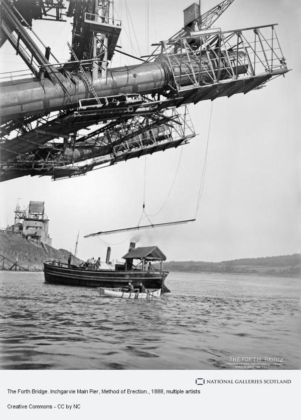 Evelyn George Carey, The Forth Bridge. Inchgarvie Main Pier, Method of Erection.