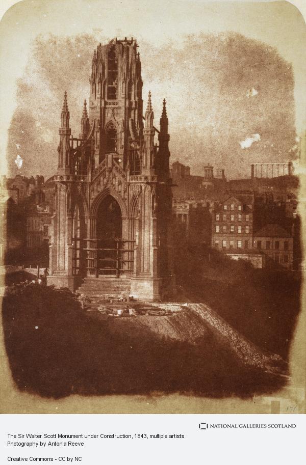 David Octavius Hill, The Scott Monument under Construction (1843)