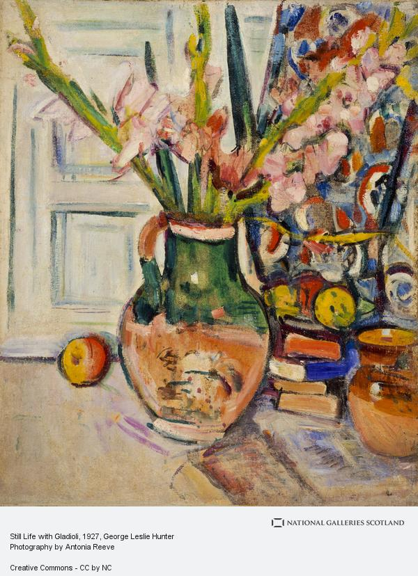 George Leslie Hunter, Still Life with Gladioli (About 1927 - 1930)