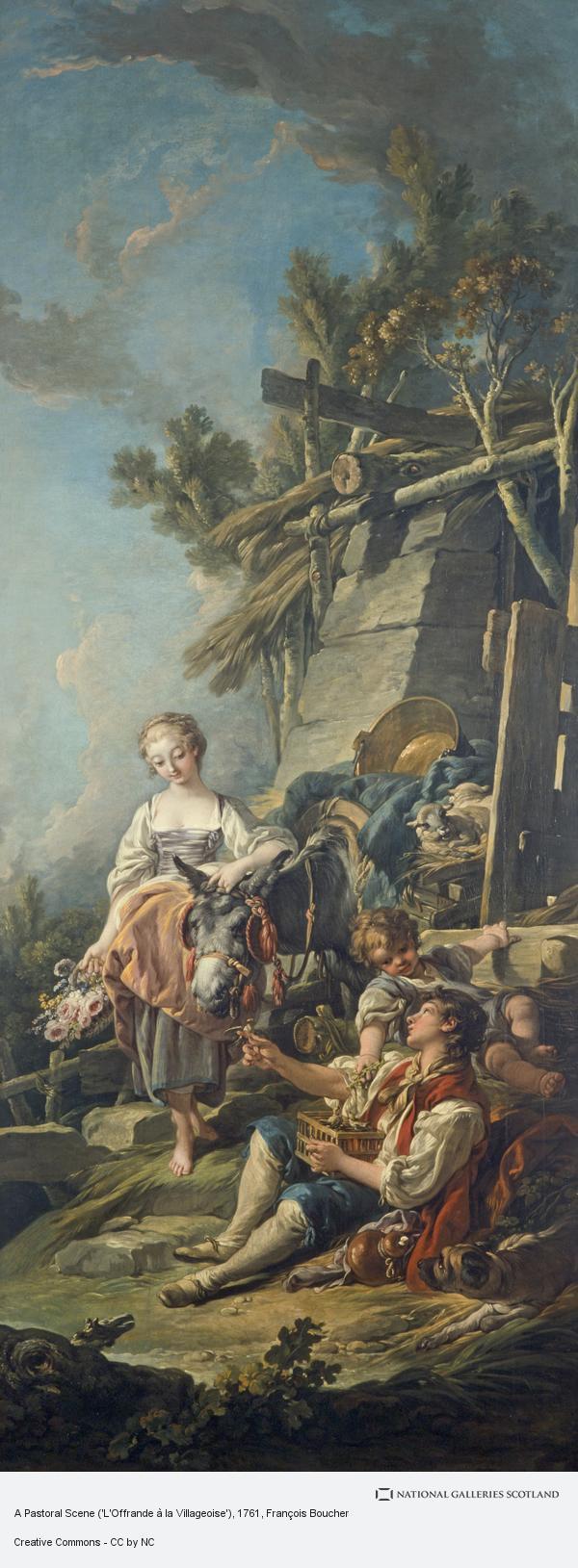 Francois Boucher, A Pastoral Scene ('L'Offrande à la Villageoise') (Dated 1761)