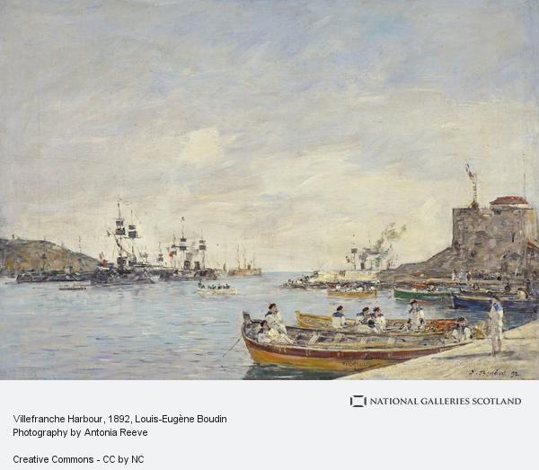 Eugene Louis Boudin, Villefranche Harbour