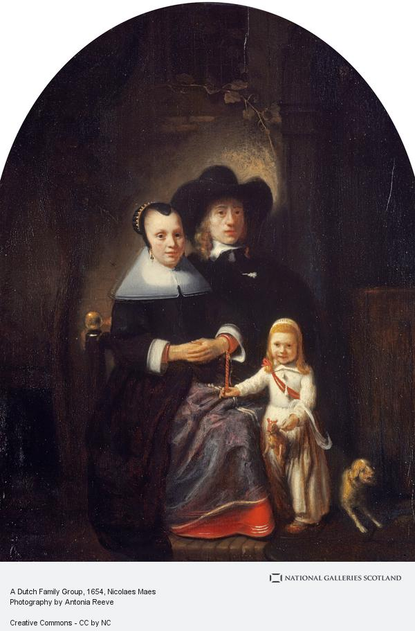 Nicolaes Maes, A Dutch Family Group (Probably mid 1650s)