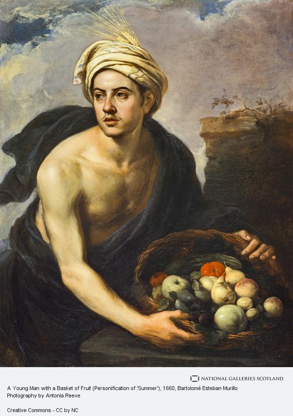 Bartolomé Esteban Murillo, A Young Man with a Basket of Fruit (Personification of 'Summer')