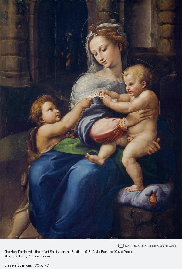 Giulio Romano (Giulio Pippi), The Holy Family with the Infant Saint John the Baptist (Vierge de Novar)