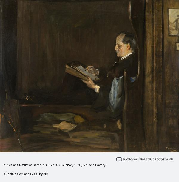 Sir John Lavery, Sir James Matthew Barrie, 1860 - 1937. Author
