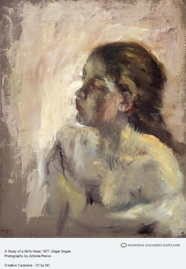 Hilaire-Germain-Edgar Degas, A Study of a Girl's Head (Late 1870s)