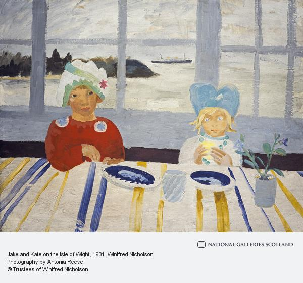 Winifred Nicholson, Jake and Kate on the Isle of Wight