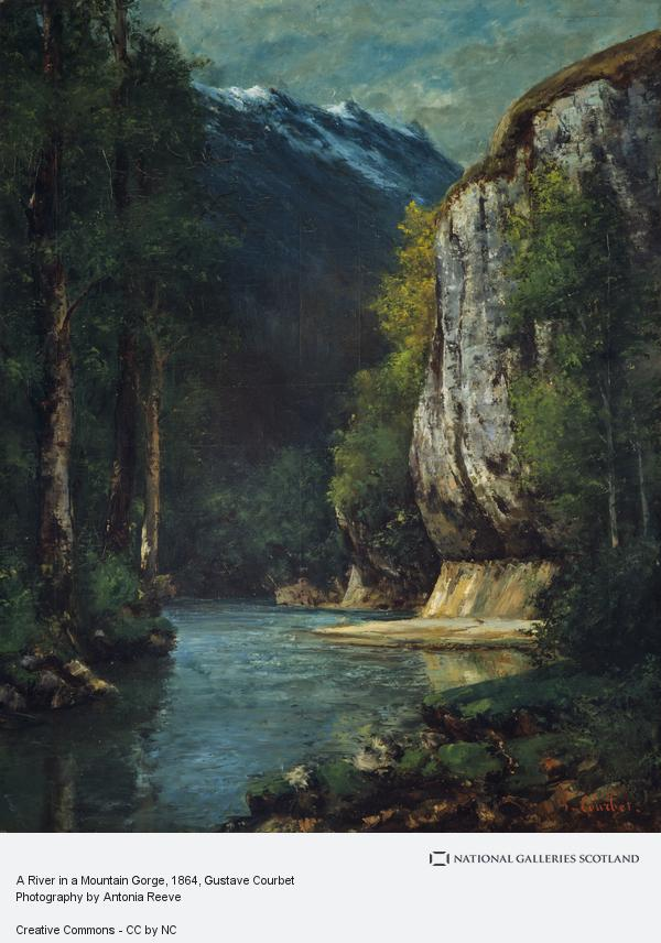 Gustave Courbet, A River in a Mountain Gorge (About 1864)