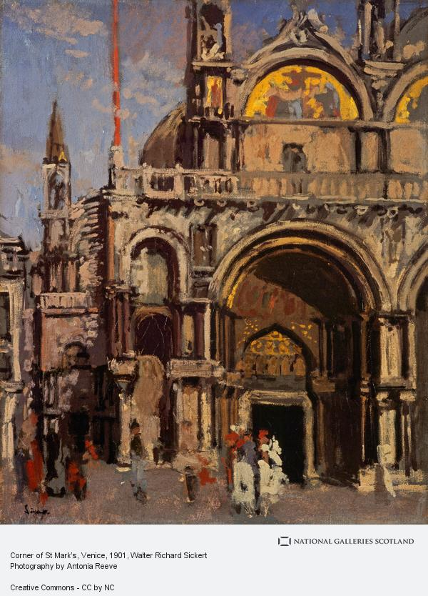 Walter Richard Sickert, Corner of St Mark's, Venice