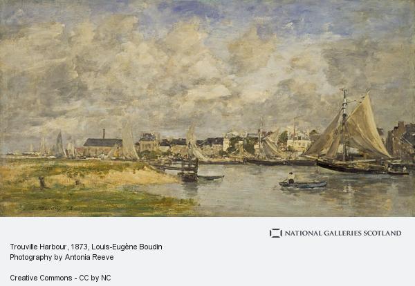 Louis-Eugene Boudin, Trouville Harbour (1873)