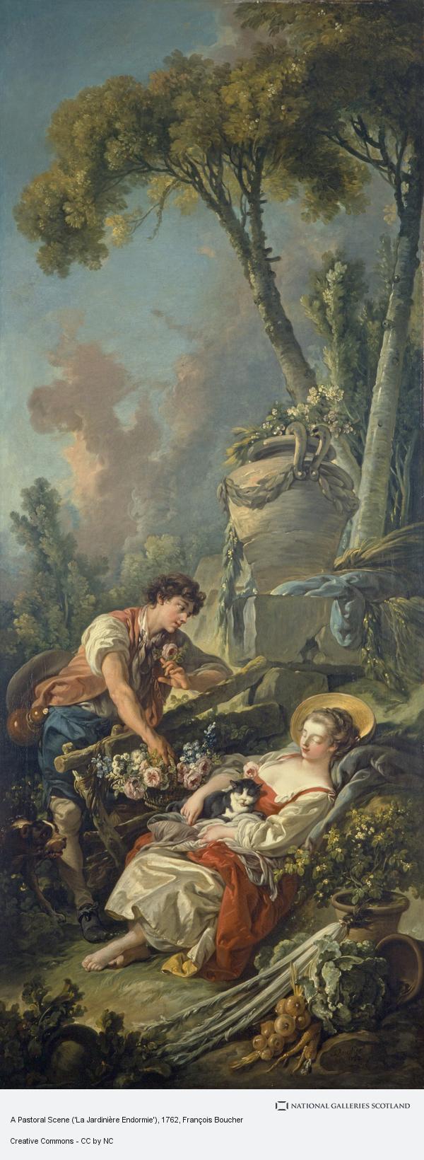 François Boucher, A Pastoral Scene ('La Jardinière Endormie')