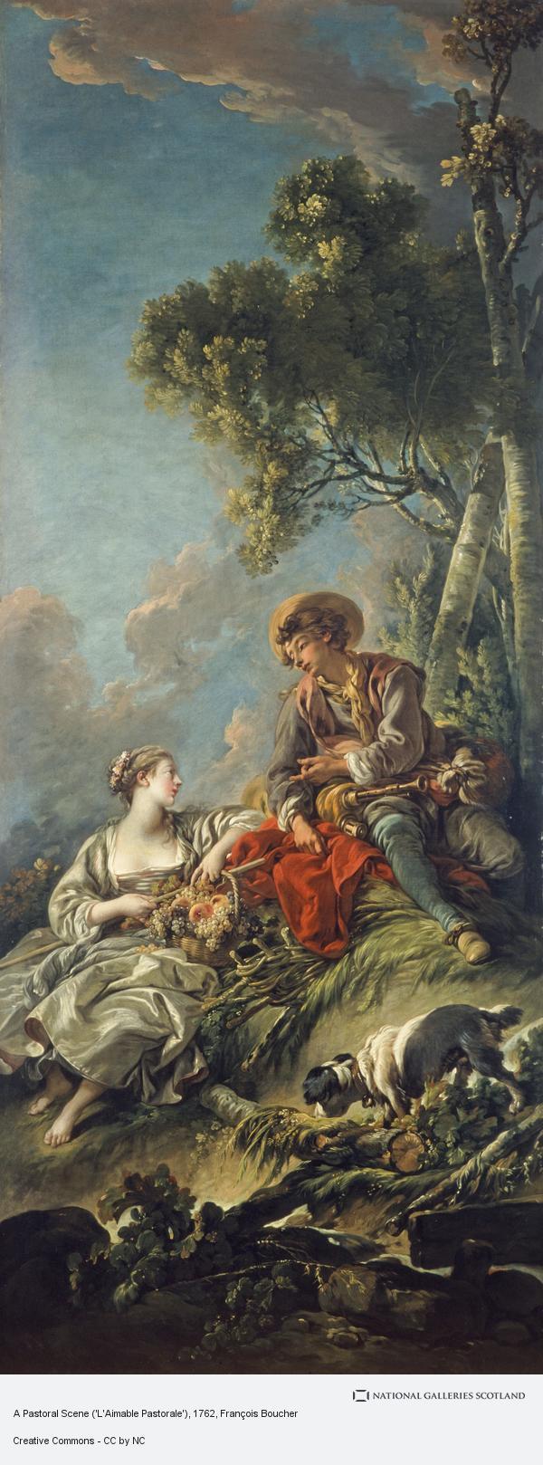 Francois Boucher, A Pastoral Scene ('L'Aimable Pastorale') (1762)