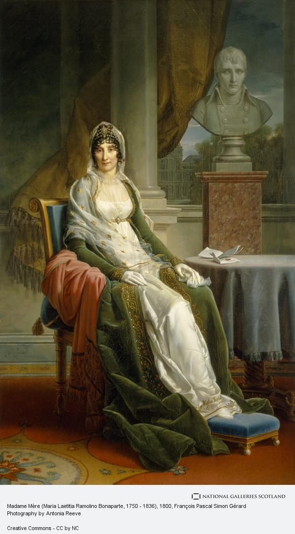 Francois-Pascal-Simon Gerard, Madame Mère (Maria Laetitia Ramolino Bonaparte, 1750 - 1836)