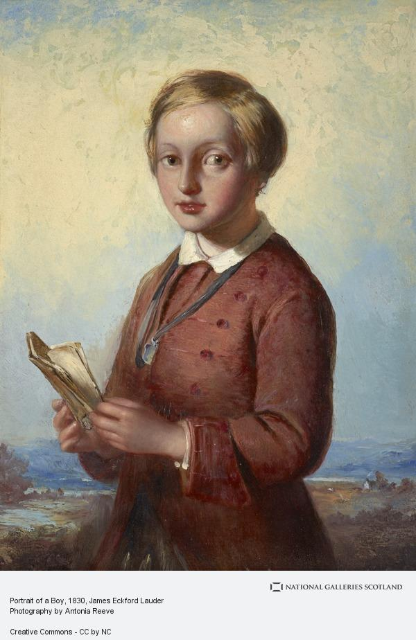 James Eckford Lauder, Portrait of a Boy