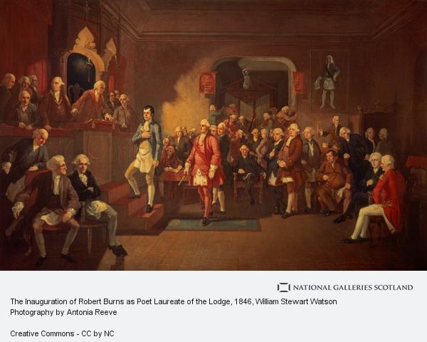 William Stewart Watson, The Inauguration of Robert Burns as Poet Laureate of the Lodge (1846)