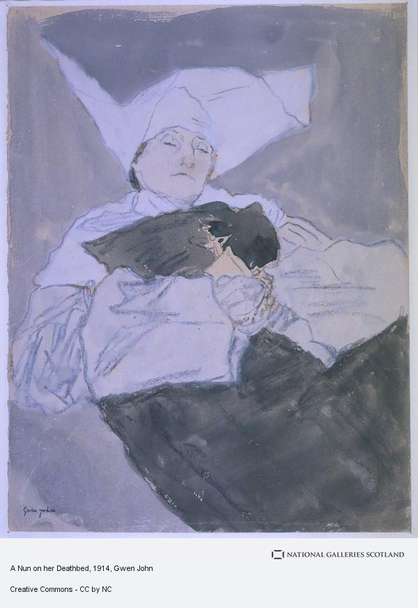 Gwen John, A Nun on her Deathbed (About 1914 - 1918)