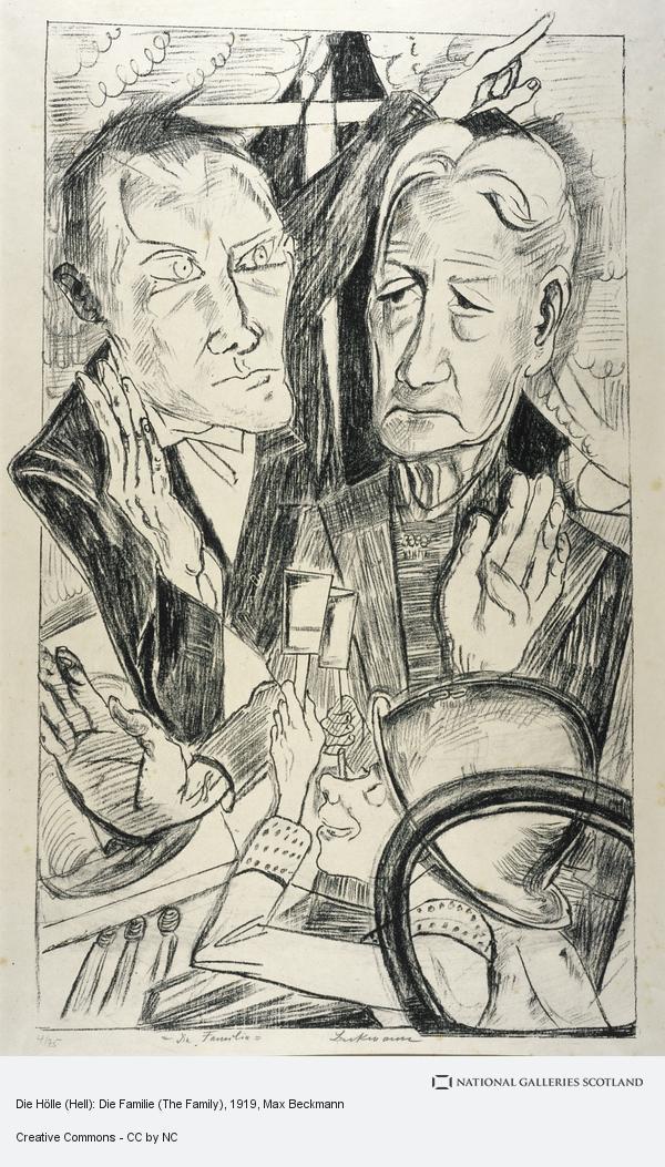 Max Beckmann, Die Hölle (Hell): Die Familie (The Family)
