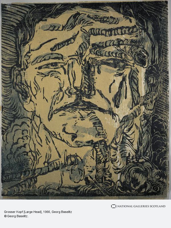 Georg Baselitz, Grosser Kopf [Large Head]