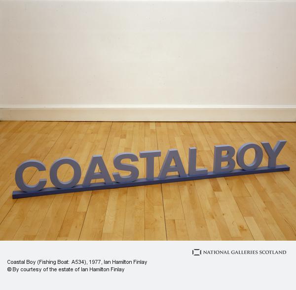 Ian Hamilton Finlay, Coastal Boy (Fishing Boat: A534) (1977)