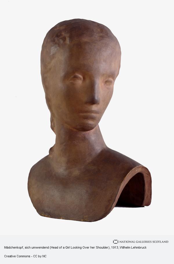Wilhelm Lehmbruck, Mädchenkopf, sich umwendend (Head of a Girl Looking Over her Shoulder)