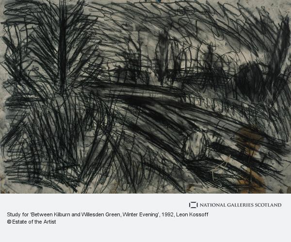 Leon Kossoff, Study for 'Between Kilburn and Willesden Green, Winter Evening'