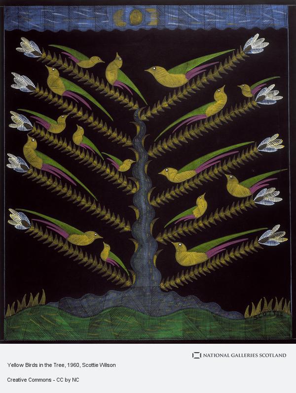 Scottie Wilson, Yellow Birds in the Tree