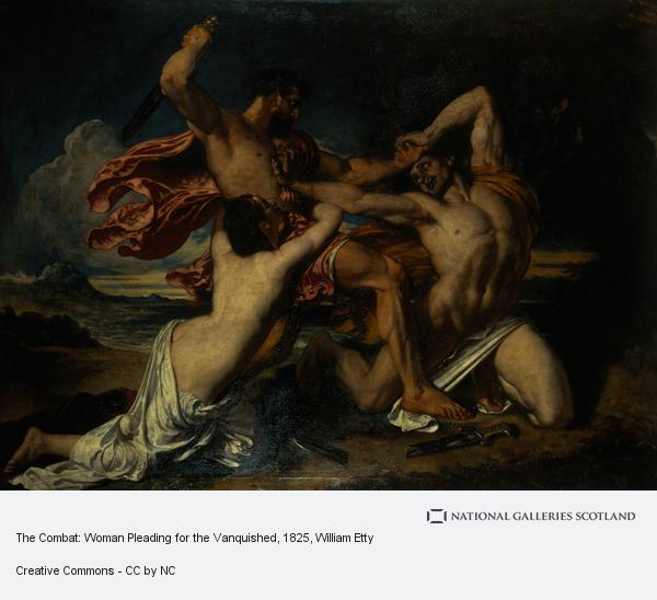 William Etty, The Combat: Woman Pleading for the Vanquished