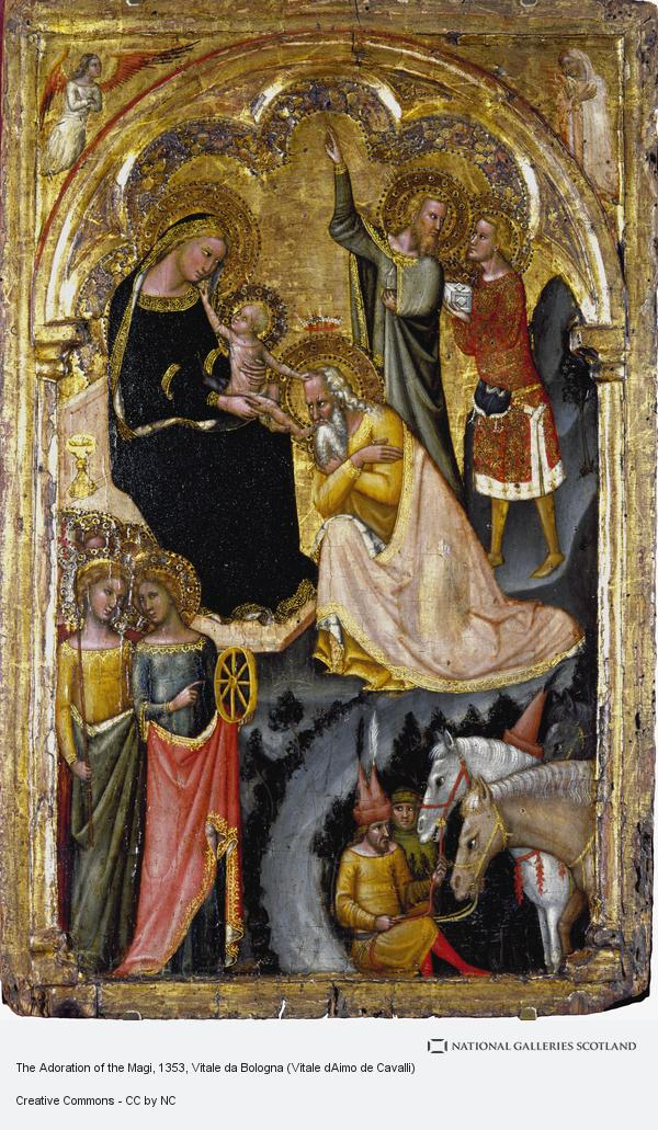 Vitale da Bologna, The Adoration of the Magi (About 1353 - 1355)