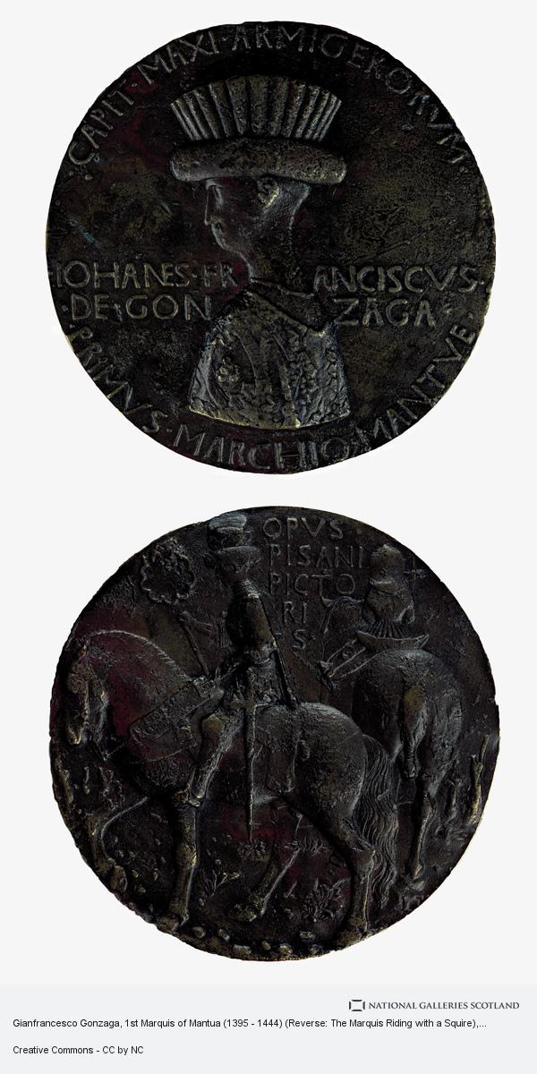 Antonio Pisanello (di Puccio Pisano), Gianfrancesco Gonzaga, 1st Marquis of Mantua (1395 - 1444) (Reverse: The Marquis Riding with a Squire)