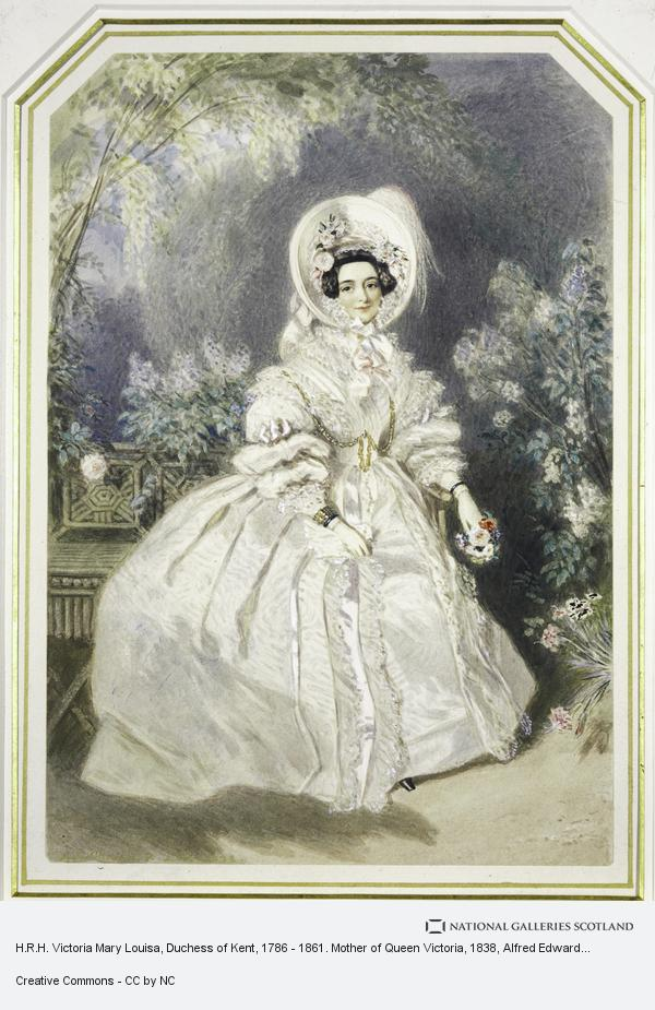 Alfred Edward Chalon, H.R.H. Victoria Mary Louisa, Duchess of Kent, 1786 - 1861. Mother of Queen Victoria