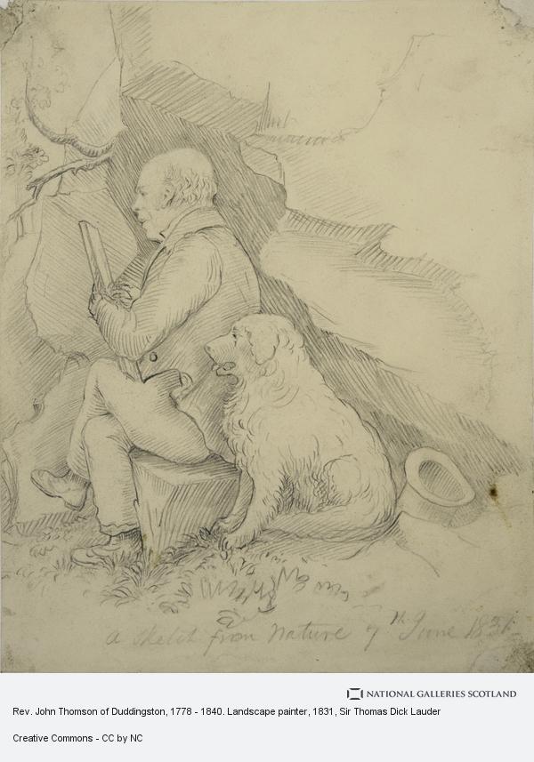 Sir Thomas Dick Lauder, Rev. John Thomson of Duddingston, 1778 - 1840. Landscape painter (1831)