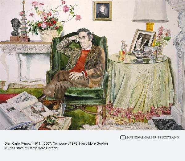 Harry More Gordon, Gian Carlo Menotti, 1911 - 2007. Composer (1978)
