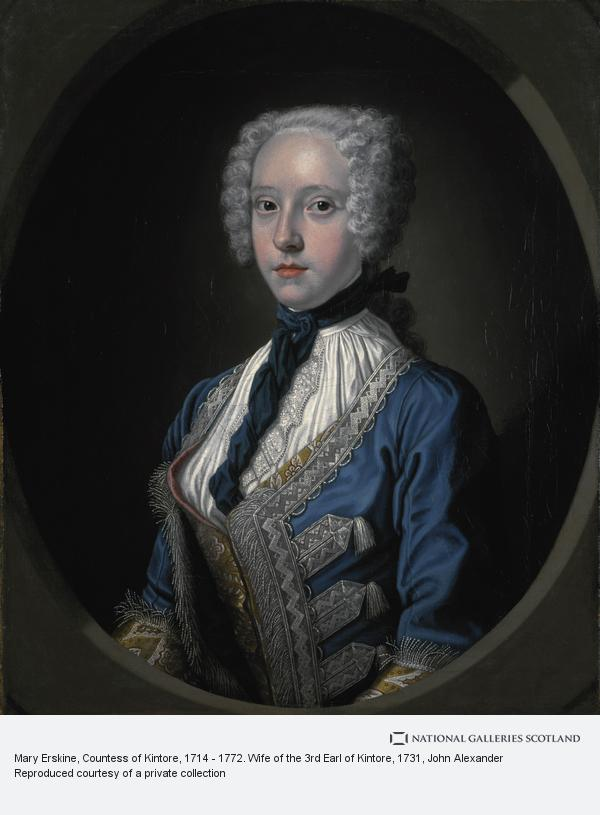 John Alexander, Mary Erskine, Countess of Kintore, 1714 - 1772. Wife of the 3rd Earl of Kintore