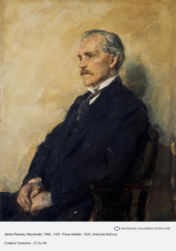 Ambrose McEvoy, James Ramsay Macdonald, 1866 - 1937. Prime minister (Completed 1926)
