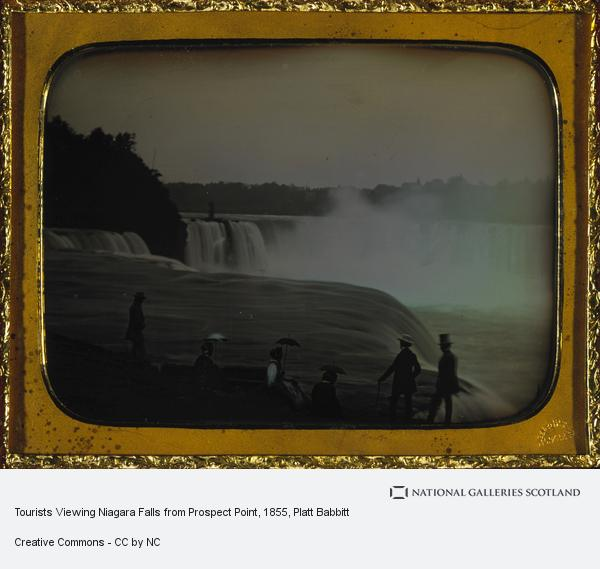 Platt Babbitt, Tourists Viewing Niagara Falls from Prospect Point