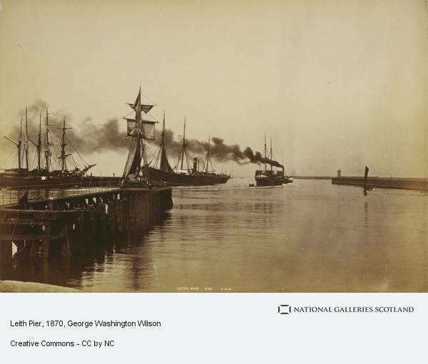 George Washington Wilson, Leith Pier (About 1870)