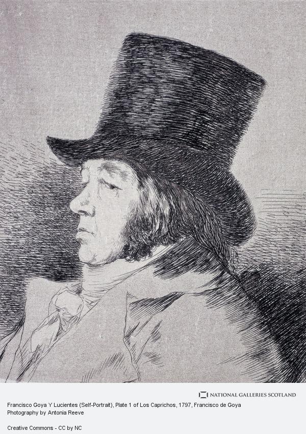 Francisco de Goya y Lucientes, Francisco Goya Y Lucientes (Self-Portrait), Plate 1 of Los Caprichos