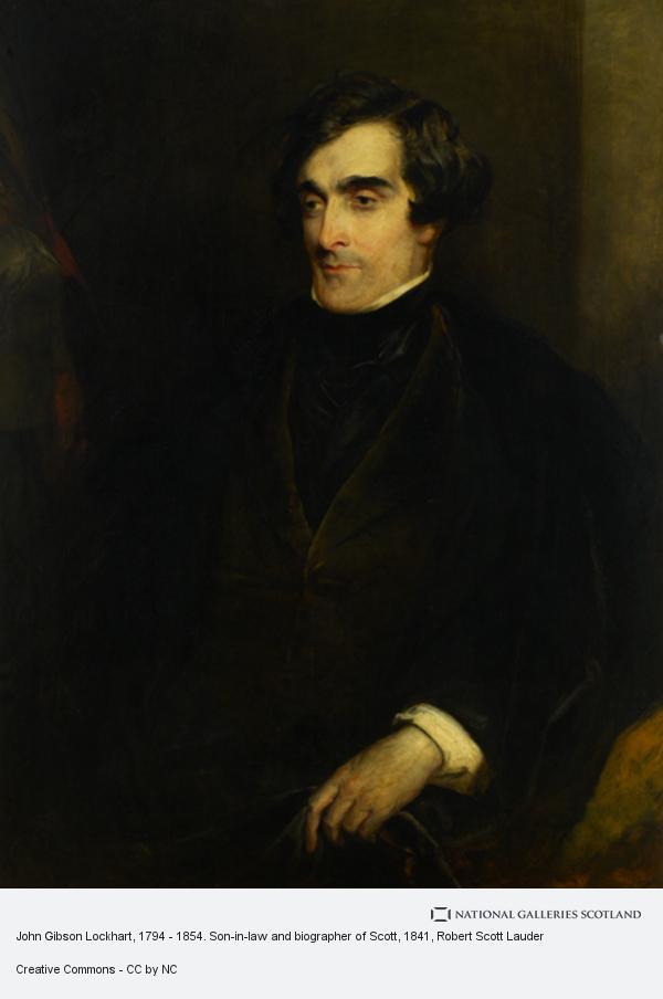 Robert Scott Lauder, John Gibson Lockhart, 1794 - 1854. Son-in-law and biographer of Scott