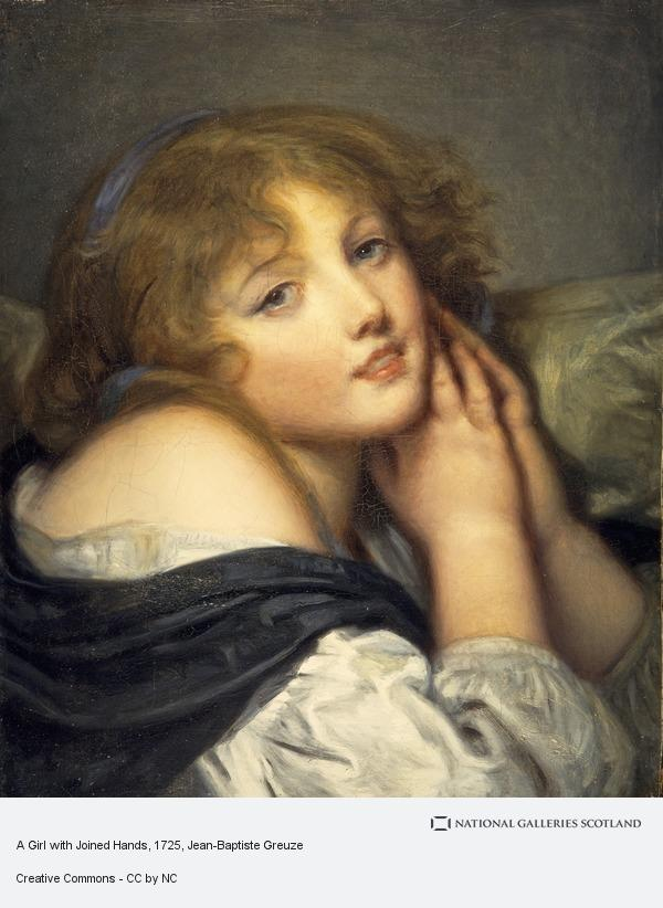 Jean-Baptiste Greuze, A Girl with Joined Hands