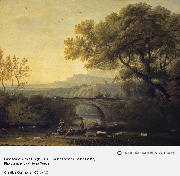Claude Lorrain, Landscape with a Bridge